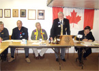 Thumbnail: Governor Ted Hughes addresses the Russell Ontario Lions Club