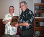 Thumbnail: Charter Night 2008. Lion Gord Saunders presented with the Melvin Jones Award by Lion President Peter Marr
